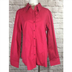 Talbots Shirt Stretch Elbow Patches Pink
